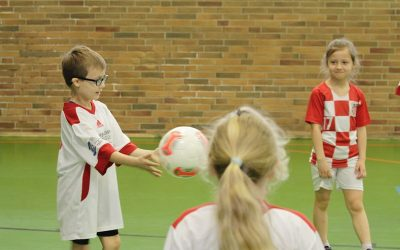 Kleine Fußballer ganz groß